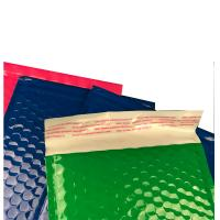 Quality Strong Glue Plastic Bubble Mailers Shinny Surface Easy For Writing & Printing for sale