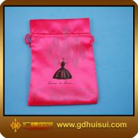 Quality red velvet bag with satin lining for sale