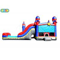 China Children Outdoor Inflatable Obstacle Course / Bounce House With Slide on sale