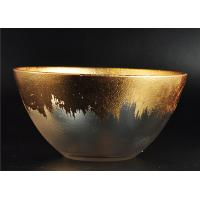 Quality Clear Bowl Shape Glass Candle Holder with Golden Coating for Wedding Decor for sale