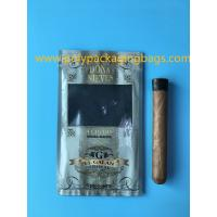 Quality Manufacturers custom-made sales gold printing cigar packaging moisturizing zipper bag for sale
