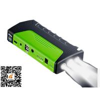 Quality Green Portable Car Jump Starter Led Light Torch / Sos / Strobe 3 In 1 Jump Starter And Power Supply for sale
