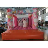 Quality Custom Made Inflatable Small bouncer Pink inflatable rabbit Jump house on sale for sale