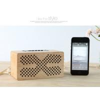 Quality Insert Card Natural Wood Speakers 10M Working Range Bluetooth Audio Speaker for sale