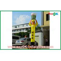Quality Yellow Inflatable Air Dancer Cooker for Advertising , Inflatable Sky Dancer for sale