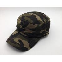 Quality Durable Camouflage Military Cadet Cap Pure Cotton 3d Embroidery Fitted for sale