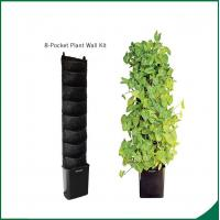 Quality Eco Friendly 8 Pocket Vertical Garden Kit Wall Garden Growing Bags 25x13cm Felt material Black or as request for sale