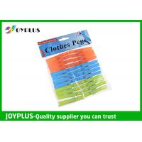 Quality PP Material Colored Plastic Clothespins Set Customized Color / Size Available for sale