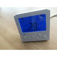 Button Control Fan Coil Unit Thermostat LCD Display With Electric Heater Function for sale