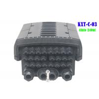 Quality 96 Core  4 Into 24 Out Multicore Joint Fiber Optic Closure Enclosure Outdoor IP68 1 X 16 PLC Splitter Support for sale