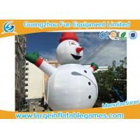 Quality Gian Inflatable Advertising Products , Inflatable Snowman Christmas Decorations For Xmas for sale