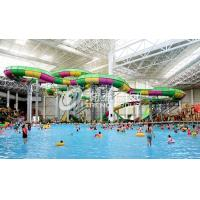 Quality Aquatic Playground Equipment , Large Water Slides Capacity for Family Fun in Big Water Park for sale