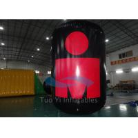Quality Outdoor Activity / Event Cylindrical Inflatable Marker Buoys Customized Logo for sale