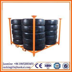 China Folding Auto car truck Tire Wall Mount Shelving Storage Rack on sale