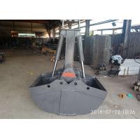 Quality Professional Hydraulic Grapple Attachment , Hydraulic Grab Bucket  Double Cylinders for sale