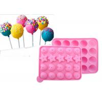 China DIY 22.5*18.2cm Silicone Candy Molds For Lollipop  Biscuit Baking on sale