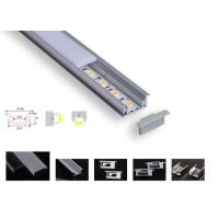 Quality Strong Pc Led Aluminium Channel , Pcb 12.2mm Led Tape Channel For Floor Lighting for sale