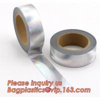 Foil Washi Tape Holographic Gold Laser Decorative Reflective Customized for sale