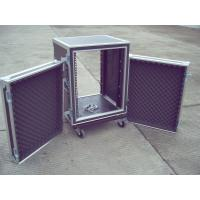 Quality Storage 24U Aluminium Flight Case , 9mm Plywood Durable Shockmount Rack Case for sale