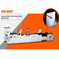 Quality High Speed Envelope Making Equipment , Envelope Production Machine RW-WGP SERIES for sale