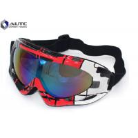 Quality PC Mirror UV PPE Safety Goggles Black Dirt Bike Racing Wearing Comfortable for sale