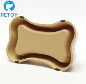 Buy Bone Shape Bio Bamboo Cat Bowl Anti - Skid 20×12.5×4.3 Cm 150g Weight at wholesale prices