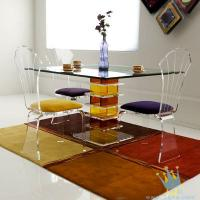Quality acrylic seagrass coffee table set for sale