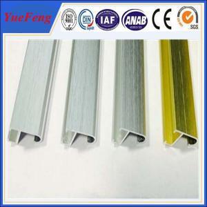 Quality hairline brush finish aluminium picture photo frame, aluminum extrusion frame design for sale