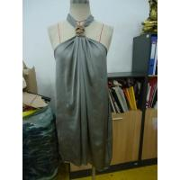 Quality Grey Chiffon Womens Club Dresses Boutiques Open Back Knot / Halter Neck Short Dress for sale