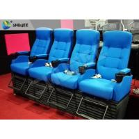 Quality Bright Blue Electronic / Hydraulicz 4D Movie Theater Chair 4D Cinema Simulator for sale