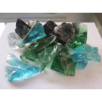 Quality Colored Glass Rocks. Tumbled Landscape Glass. for sale