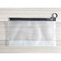 Quality Plastic Reusable Ziplock Bags , Frosted PVC Slider Bags With Ring Puller Easy To Open for sale