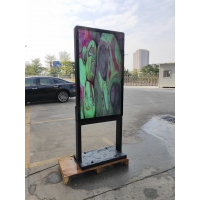Quality 4000cd/m2 55inch Optical Bonding Lcd Totem 98mm Thickness for sale