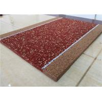 Quality Brown EPDM Recycled Rubber Granules Fragmented Wear Resistant / Anti - Static for sale