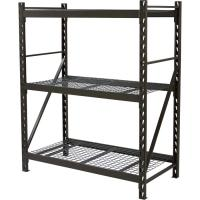 Quality 3 Tier Storage Unit Wire Storage Shelves With Wheels Commercial Grade for sale