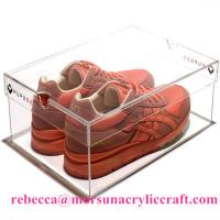 Quality Transparent Acrylic Shoe Holder Plastic Display Show Case For Shoe for sale