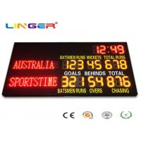 Quality 2 Modes Led Cricket Scoreboard , Football Score Board 1200mm X 3600mm X 100mm for sale