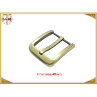 Quality Gold Zinc Alloy Pin Metal Belt Buckle / Mens Fashion Belt Buckles for sale