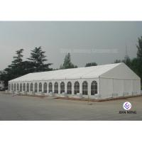 Quality 600 ~ 1000 Person Aluminum Frame Tent , White PVC Event Tent With Double Wing Glass Door for sale