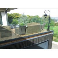 China Outdoor Aluminum U Channel Frameless Glass Deck Railing Design For You on sale