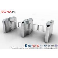 China Fingerprint Entrance Swing Barrier Gate Stainless Steel For Handicap Channel on sale