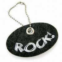 Quality 5 x 3cm Oval-shape Pendant, Comes in White Color, Made of 3mm Felt Material for sale
