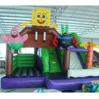 Quality 2016 hot sell  Spongebob inflatable bounce house with 24months warranty GT-BC-1840 for sale