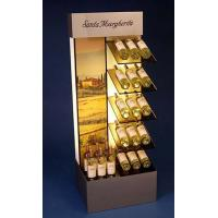 Buy Brown Mdf Display Stands Acrylic Wine Bottle Holder With Led Insert at wholesale prices