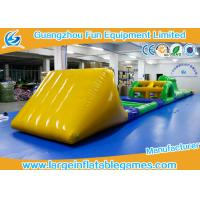 Quality Funny Inflatable Water Park Games / Inflatable Water Obstacle 0.6mm / 0.9mm Thickness for sale