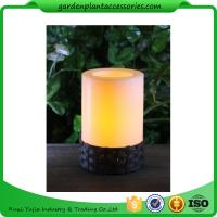 Quality White Plastic Candle Solar Garden Lights Battery Operated With Black Wick  shrinkwrap+belly band 17x17x12cm 3.33kgs/ctn for sale
