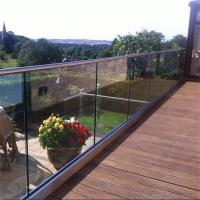 Quality Modern Design aluminum balcony railing with U base channel for sale