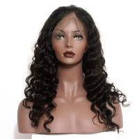 Buy cheap 150 Density Braided Full Lace Human Hair Wigs Brazilian Deep Wave from wholesalers