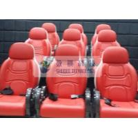 Quality Outside Mobile 6D Movie Theater 3 / 4 Seat Per Set Motion Chairs With Red Color for sale