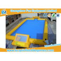 Quality Customized 24m X 18m Inflatable Football Field / Soccer Area For Bubble Bumper Ball for sale